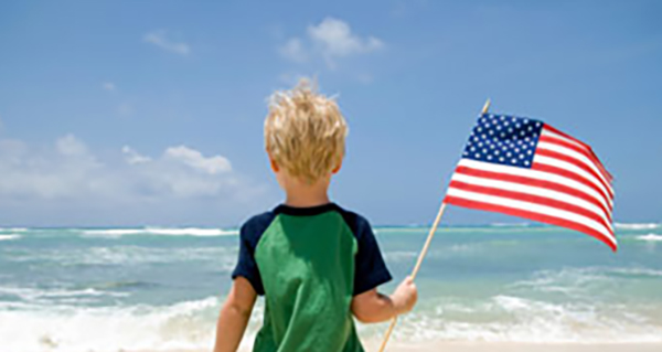 child-holding-flag